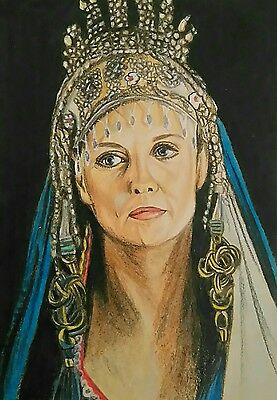 Original DOUBLE stargate Sg1 Samantha Carter aceo sketch card pencil and pastel
