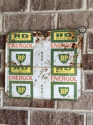 Lot #52 / Vintage Energol BP Oil Can Sign  / Gas And Oil / Oil Can  / Flat