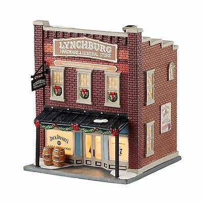 "Dept 56 JACK DANIEL'S ""LYNCHBURG HARDWARE & GENERAL STORE"" New 2016 Free SHIP"