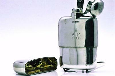 Antique George V 1923 Sterling Silver Hip Flask by Colen Cheshier from Chester