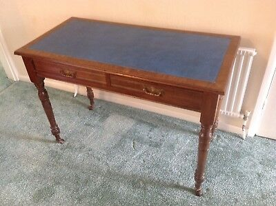 Antique Edwardian Walnut Maple & Co Writing Table, Desk, Frieze Drawers