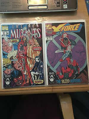 The New Mutants #98 (Feb 1991, Marvel) 1st appearance of Deadpool & X-force #2