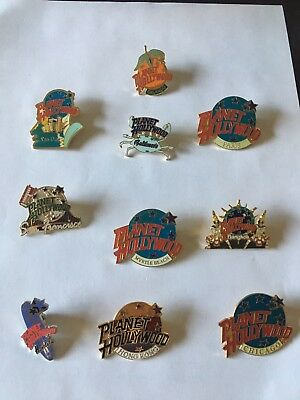 Planet Hollywood Pins Lot Of 10