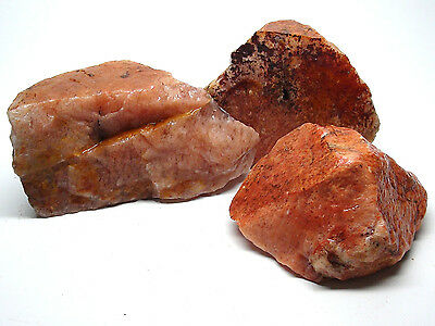 5 Lb Lot Of Solid Orange Aventurine Rough - India - Awesome Lapidary