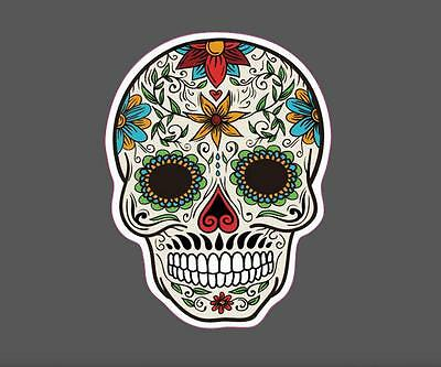 Colorful Skull Vinyl Sticker Snowboard Luggage Car Laptop Phone 8x6cm M0350