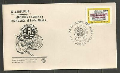 ARGENTINA -1981  Bahia Blanca Philatelic and Numismatic Society - F.D.C.