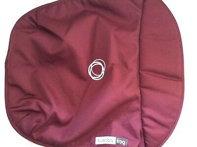 Bugaboo Frog Stroller Bassinet Apron maroon Canvas Carrycot cover baby boy girl