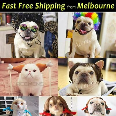 Pet Dog Cat Wig Braid Curly Drumstick Lion Costume Puppy Kitty Cosplay Fun Party