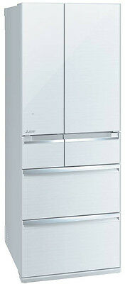 New Run Out MRWX627ZWA Mitsubishi Electric - 627L 6 Door/Drawer Fridge, White -