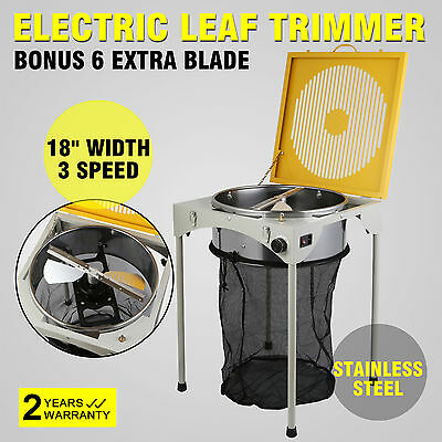 "18"" Electric Leaf Bud Trimmer W/6 Lame Extra Vitesse Réglable Inox Remarkable"