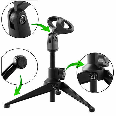 Adjustable Desktop Table Mic Microphone Clamp Clip Holder Stand Tripod BEST SELL