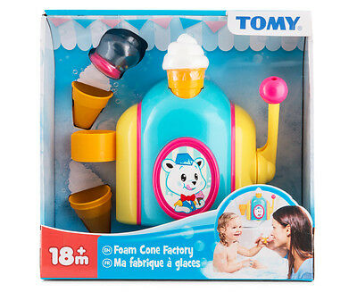 Tomy Bath Toys Foam Cone Factory promote collaborative role play, motor skills
