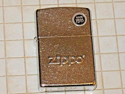 New Raised Letter ZIPPO Windproof Lighter USA Stamped Stock Brushed Chrome Case