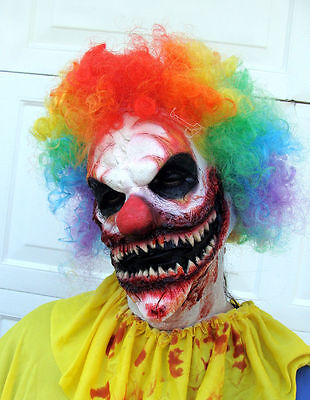 Scary Clown Mask Prosthetic SCORCH Clown costume Fx Prosthetic Face + Hands