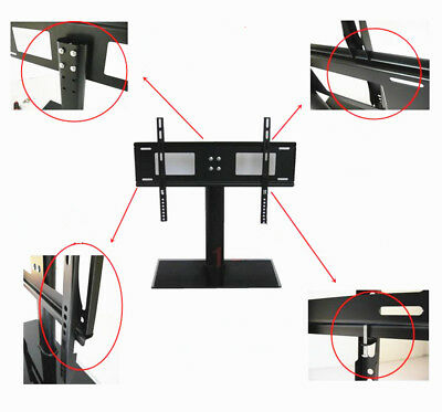 """32 - 55"""" Cantilever Glass TV Stand with Mount Bracket for Plasma LCD TV"""