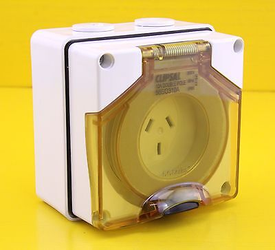 Clipsal 56SO310A Automatic Switched Socket Outlet 250V 10A Double Pole IP66