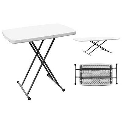 Portable Folding Table Picnic Camping Laptop Desk With Adjustable Height Legs