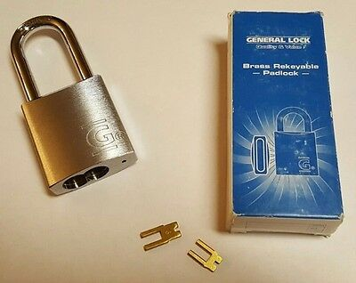 "(11) Quantity of NEW General Lock PL452 Series ReKeyable Padlocks, 5/16"" Shackle"