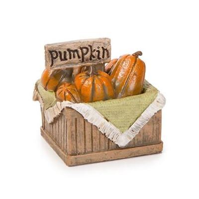 Miniature Dollhouse Fairy Garden Basket Filled w Pumpkins Halloween Thanksgiving