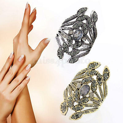 Fashion Vintage Retro Alloy Feather Leaf Ring Jewelry Gift for Women Men New x 1