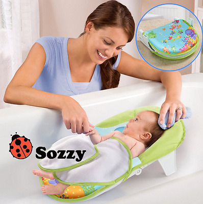 Baby Safety Bath Sling Seat Support Fold Bathing Shower Net Cradle