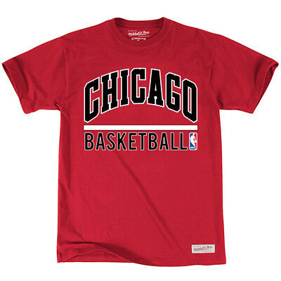 Chicago Bulls Mitchell & Ness NBA Stacked T-Shirt - Red