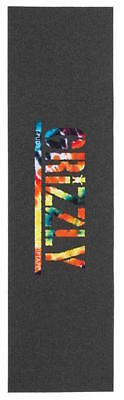 "GRIZZLY SKATEBOARD GRIP TAPE SHEET - 9"" x 33"" - TPUDS ORG TIEDYE"