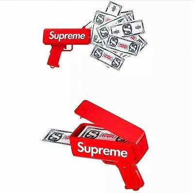 Supreme SS17 Red Box Logo Cash Cannon Money Gun New Cool Toys Christmas Gift AU