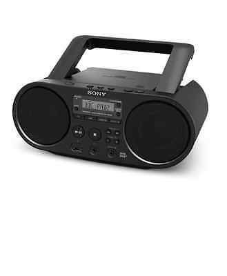 New Sony Dab+/fm Radio & Cd Boombox With Usb Zsps55   Zsps55B
