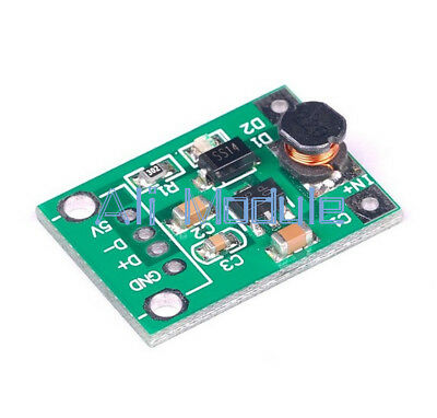 New 5PCS DC-DC Boost Converter Step Up Module 1-5V to 5V 500mA for Arduino