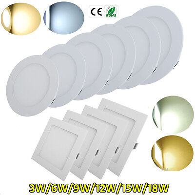 Recessed Lamp LED Panel Light 3/6/9/12/15/18W Ceiling Down Lights Home Decor