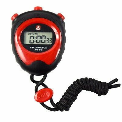 Stopwatch LCD Digital Chronograph Running Sports Timer Counter Clock New