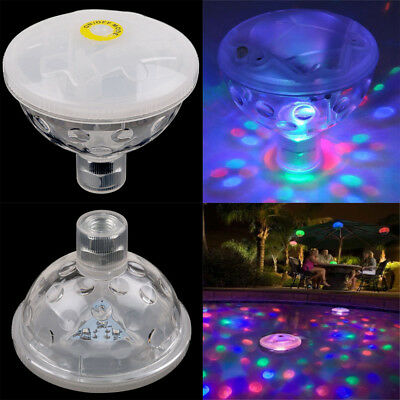 Floating Underwater RGB LED Disco Light Glow Show Swimming Pool Tub Spa Lamp CA