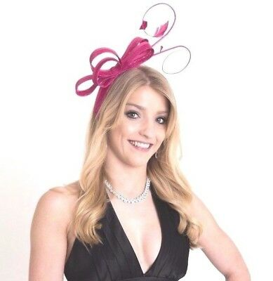 Bow race-wear, bridal  FASCINATORS with feathers and loops.