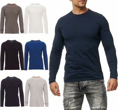 Happy Clothing Herren Langarmshirt Longsleeve T-Shirt Rundhals Top S - 3XL NEU!