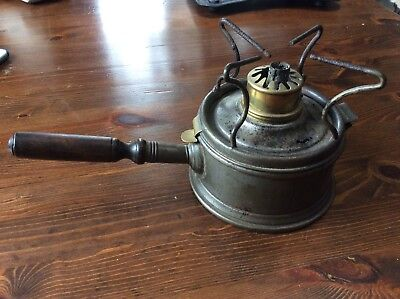 Antique French Paraffin Lamp Base With Handle
