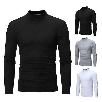 Fashion Cardigan Turtleneck Jumper Men Knit Pullover Coat Long Sleeve Sweater