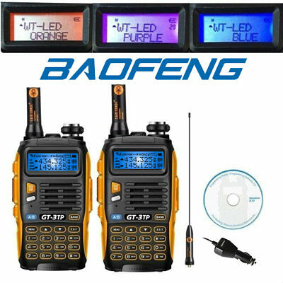 2* Baofeng GT-3TP Mark III  VHF/UHF 136-174/400-520MHz 1/4/8W Ham Two-Way Radio