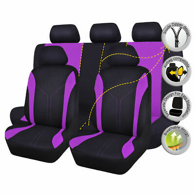 Flying-banner-car-Seat-Covers-set-Universal-purple-rear-seat-40-60-50-50-s
