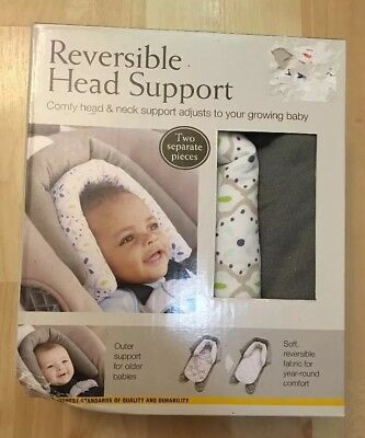 Eddie Bauer Reversible Head Support Pillow For Infant Newborn Baby Car seat