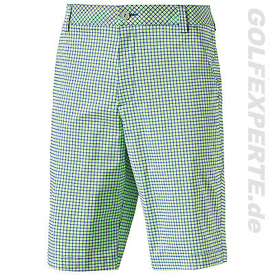 PUMA Golf Men's Plaid Short Herren Shorts kurze Hose green gecko