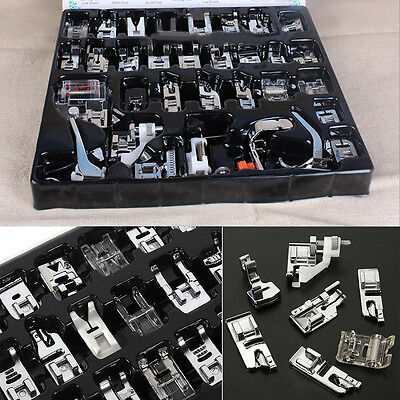 32Pcs Sewing Machine Presser Foot Set craft For Janome Brother Singer Home New