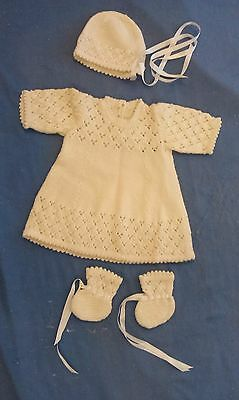 New Hand Knitted Pure Wool Baby Dress