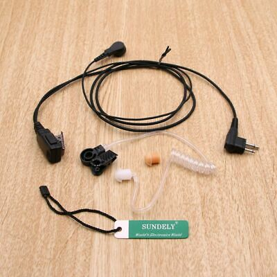 for MOTOROLA SURVEILLANCE MIC 2 WIRE COILED EAR W/PTT CP200 CP150 GP300 P1225