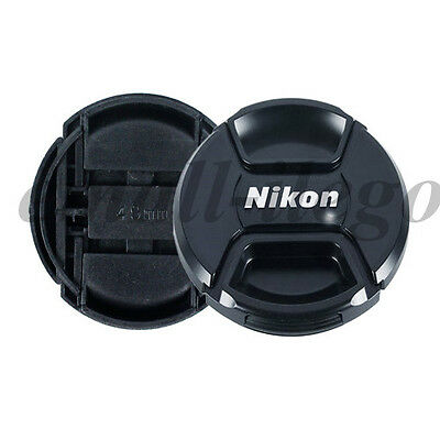 3pcs 58mm Center Pinch Snap-on Lens Cap Cover&String For Nikon Camera LC-58