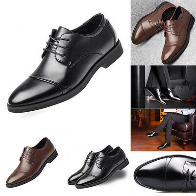 Men's Formal Oxfords Leather Business Dress Shoes Pointed Toe Casual Loafers NEW