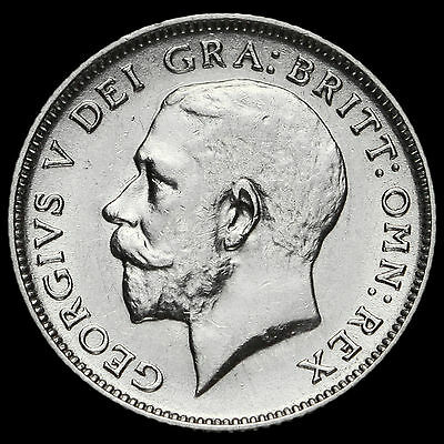 1912 George V Silver Sixpence, GVF