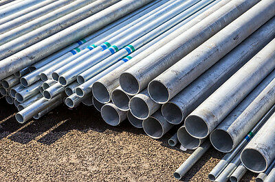Steel Round Pipe Tube Galvanized 26-114mmOD 6mtr long