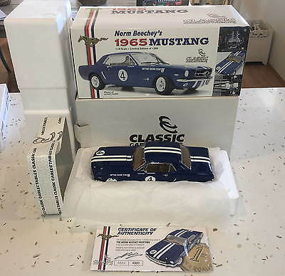 Classic 1:18 Norm Beechey's 1965 Neptune Racing Ford Mustang, MIB