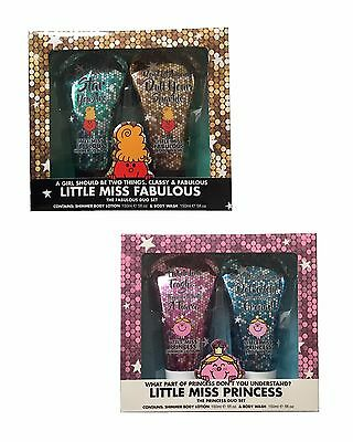 Little Miss Princess / Fabulous Womens Girls Body Lotion & Body Wash Gift Set